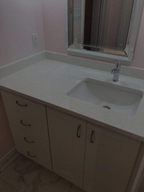 Bathroom Sink Before Image